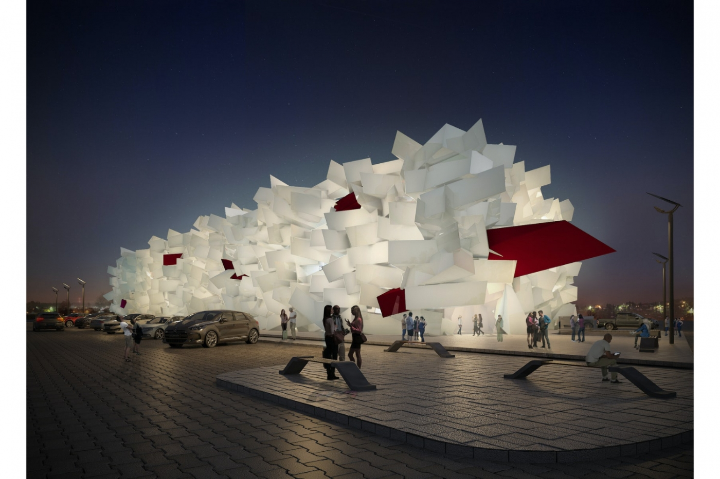 Sky Pa Sand design project Fahed Architects: Breathtaking Design Projects In Dubai 1488604676983QATAR view 1 new 1 1400x933