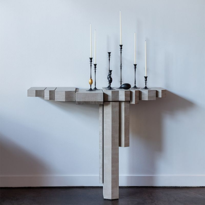 console tables The Coolest Console Tables Designs of The Moment Console Limestone Aaron Silverstein for The Future Perfect