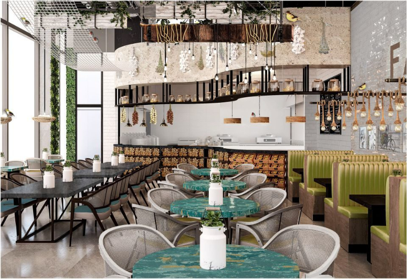 House Of Treasures: Incredible Interior Design Projects تصميم داخلي interior design project House Of Treasures: Incredible Interior Design Projects restaurant abudhabi farmers16 e1568461505489 1