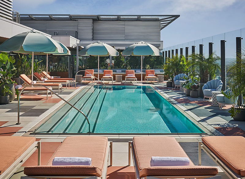 5 New Design Hotels In Los Angeles pendry pool 2