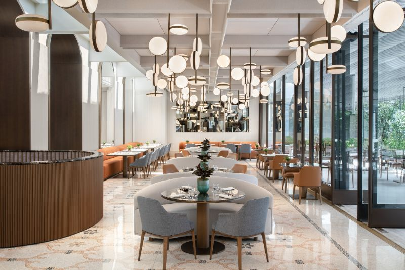 Four Seasons Hotel Milano Gets Revamped By Patricia Urquiola Four Seasons Hotel Milano Zelo Restaurant