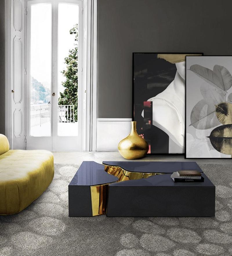 "<!-- wp:image --> <figure class=""wp-block-image""><img loading= luxury furniture Boca Do Lobo Luxury Furniture In Dubai: Aati Home Showroom lapiaz black gold center table 04 boca do lobo 1"