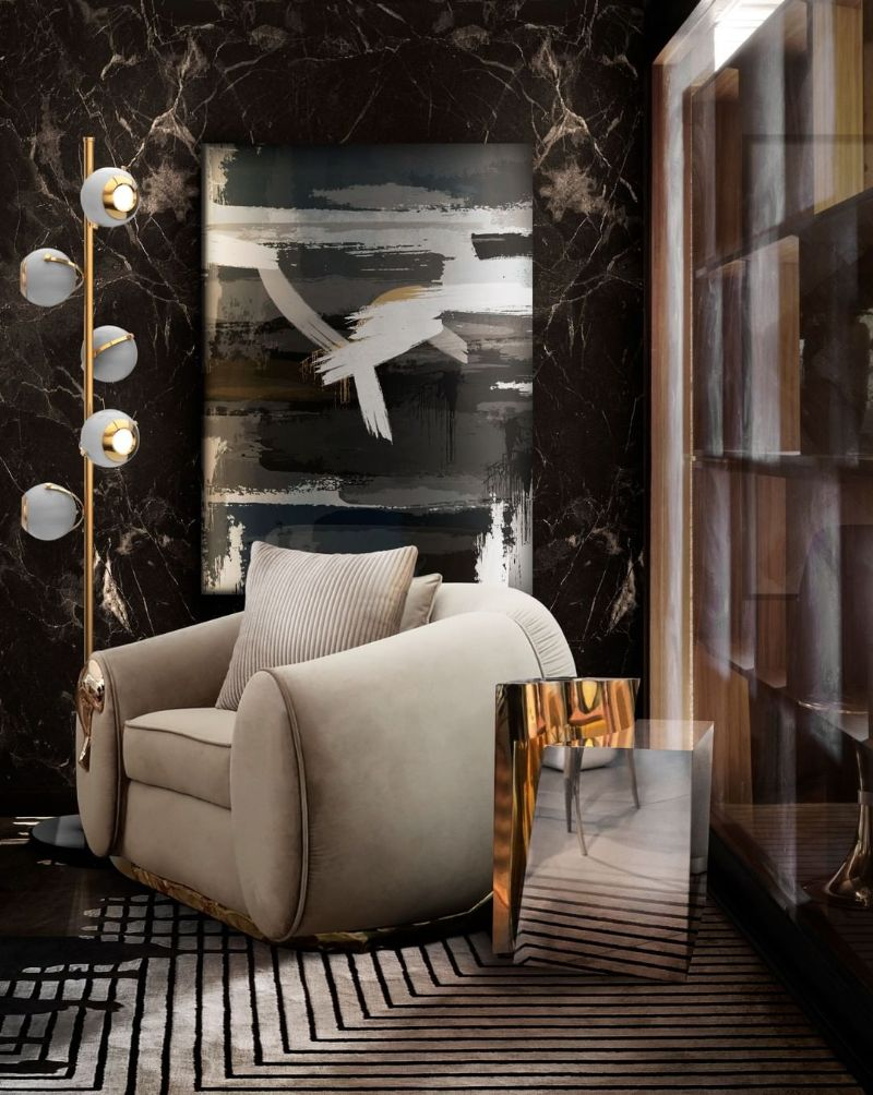 Luxury Home Furniture Ideas To Revamp Your Modern Home - soleil modern armchair lapiaz side table   Luxury Home Furniture Ideas To Revamp Your Modern Home 26
