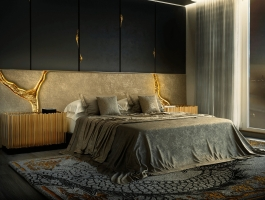 bedroom ideas How to Get a Luxurious American Home? Bedroom Ideas a luxury headboard 265x200