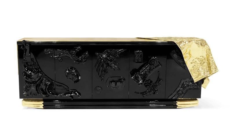 Luxury Furniture For An Arabic Interior Design voltaire black sideboard 01 boca do lobo 1