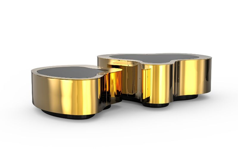 Luxury Home Furniture Ideas To Revamp Your Modern Home - wave center table   wave polished brass center table 01