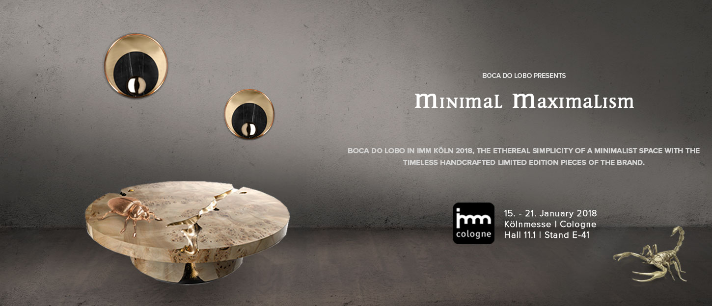 imm cologne Boca Do Lobo Presents Minimal Maximalism at IMM Cologne 2018 imm cologne