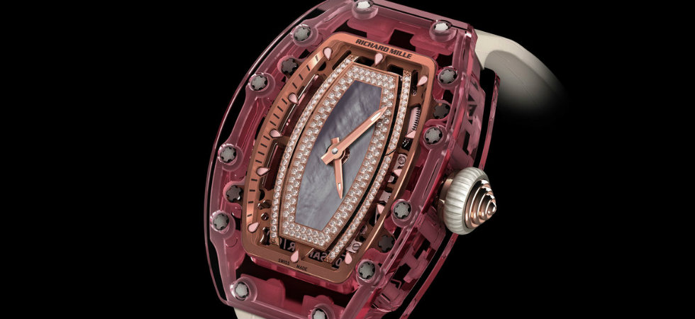 Entirely Pink Sapphire Watch by Richard Mille  Entirely Pink Sapphire Watch by Richard Mille feat6