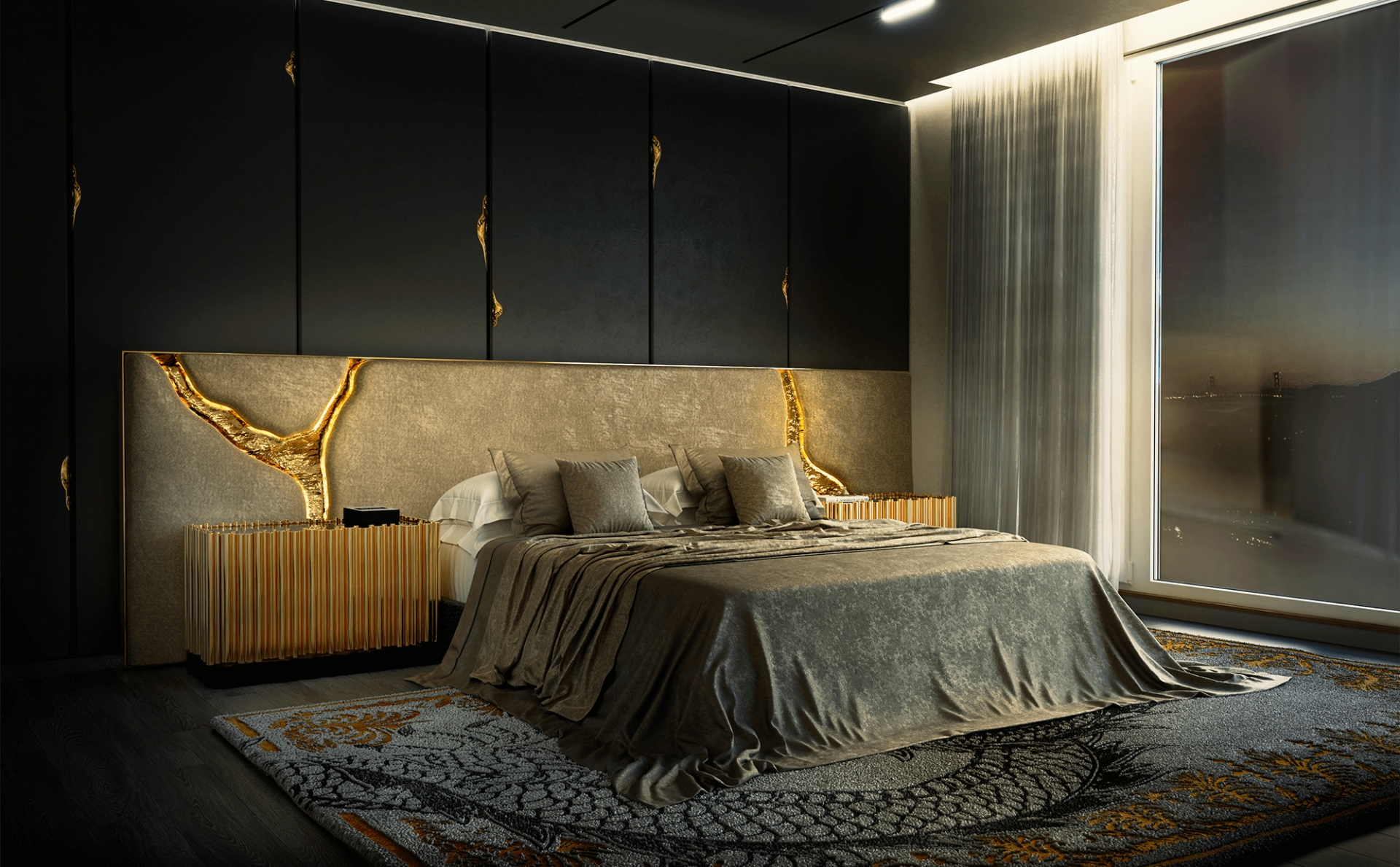 Perfect Bedroom Interior Design Projects For Dubai's Lifestyle bedroom interior design Perfect Bedroom Interior Design Projects For Dubai's Lifestyle a luxury headboard