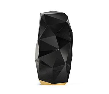 Eclectic Diamond Black Safe by Boca do Lobo