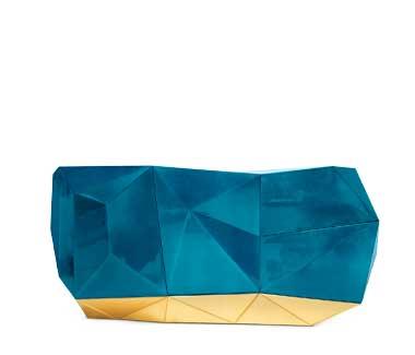 Eclectic Diamond Blue Sideboard by Boca do Lobo