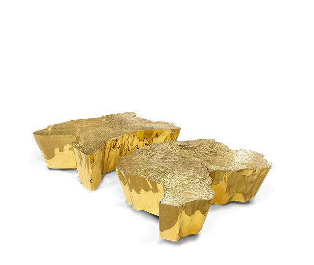 Eden Gold Center Table, Contemporary Design by Boca do Lobo