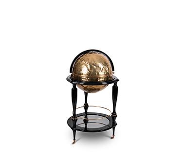 Statement Equator Gold Globe Bar by Boca do Lobo