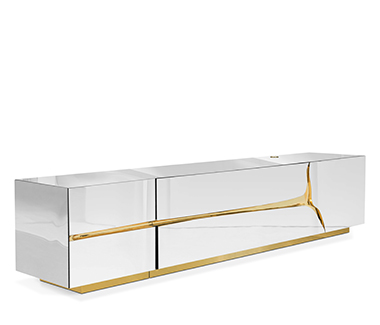 Contemporary Lapiaz TV Cabinet by Boca do Lobo