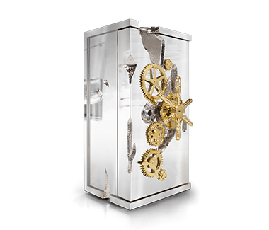 Millionaire Silver Luxury Jewelry Safe by Boca do Lobo, Safe Box