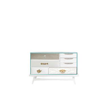 Exquisite Mondrian White Bedside Table by Boca do Lobo