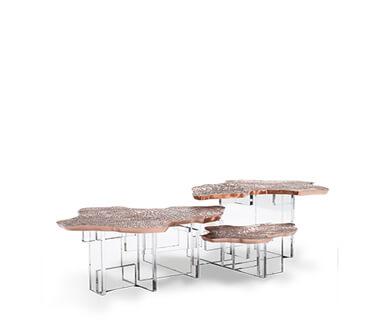 Handmade Monet Copper Center Table by Boca do Lobo