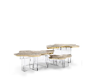 Handmade Monet Gold Center Table by Boca do Lobo