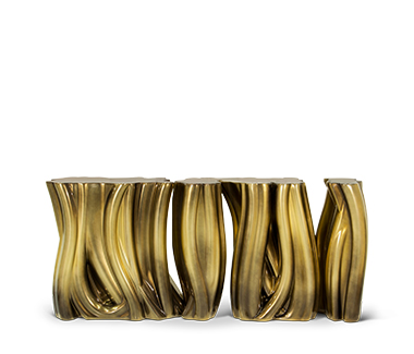 Monochrome Gold Sideboard by Boca do Lobo Statment Pieces