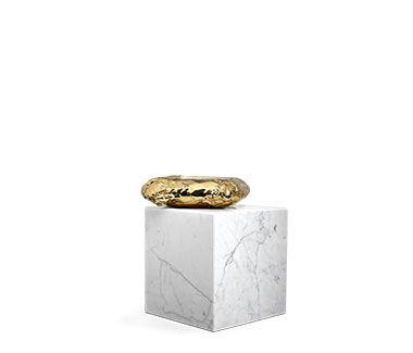 Provocative Stonehenge Carrara Side Table by Boca do Lobo