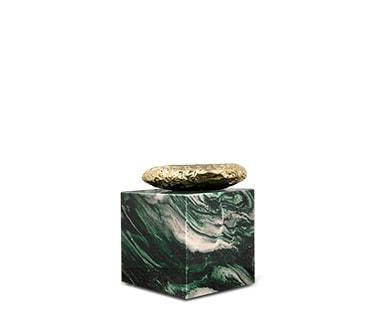 Provocative Stonehenge Laponia Green Side Table by Boca do Lobo