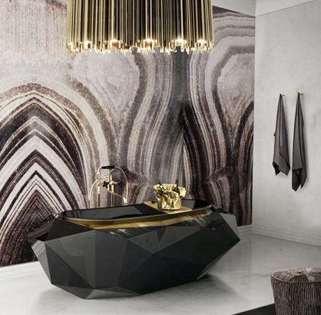 diamond bathtub by boca do lobo. Black Bedroom Furniture Sets. Home Design Ideas