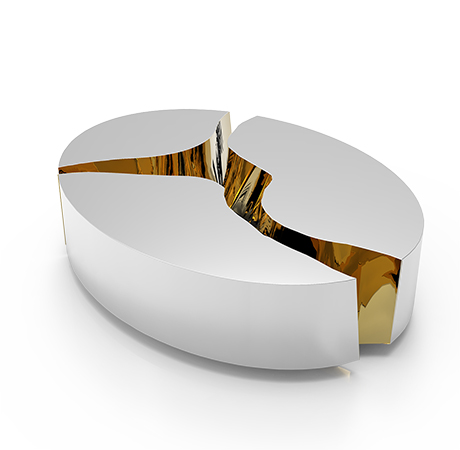 Luxus Mobel Modern Serie Lapiaz | Lapiaz Oval Center Table Exclusive Furniture