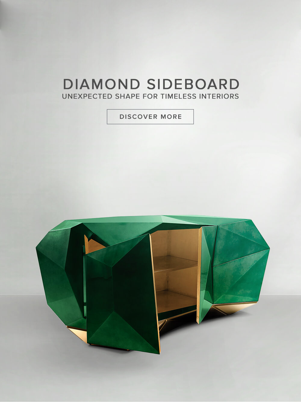 Diamond Esmerald Sideboard by Boca do Lobo