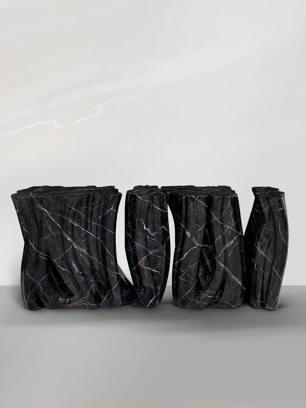 Monochrome Faux-Marble Sideboard by Boca do Lobo