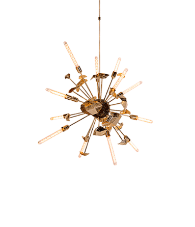 Contemporary Newton Suspension Lamp by Boca do Lobo - Boca do Lobo