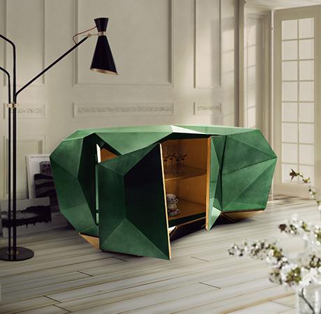 Diamond Emerald Sideboard Exclusive Furniture