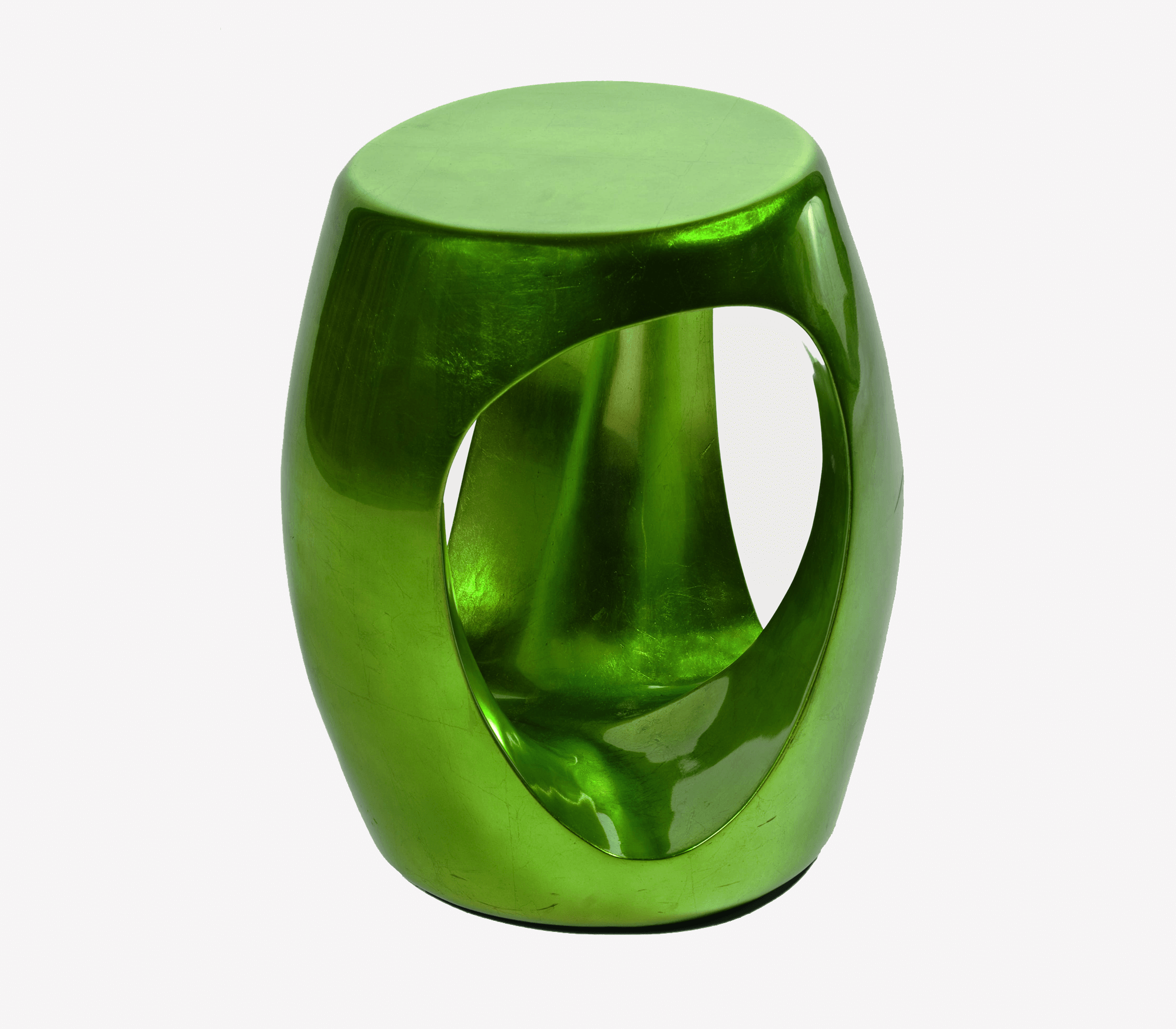 Carved Emerald Stool by Boca do Lobo