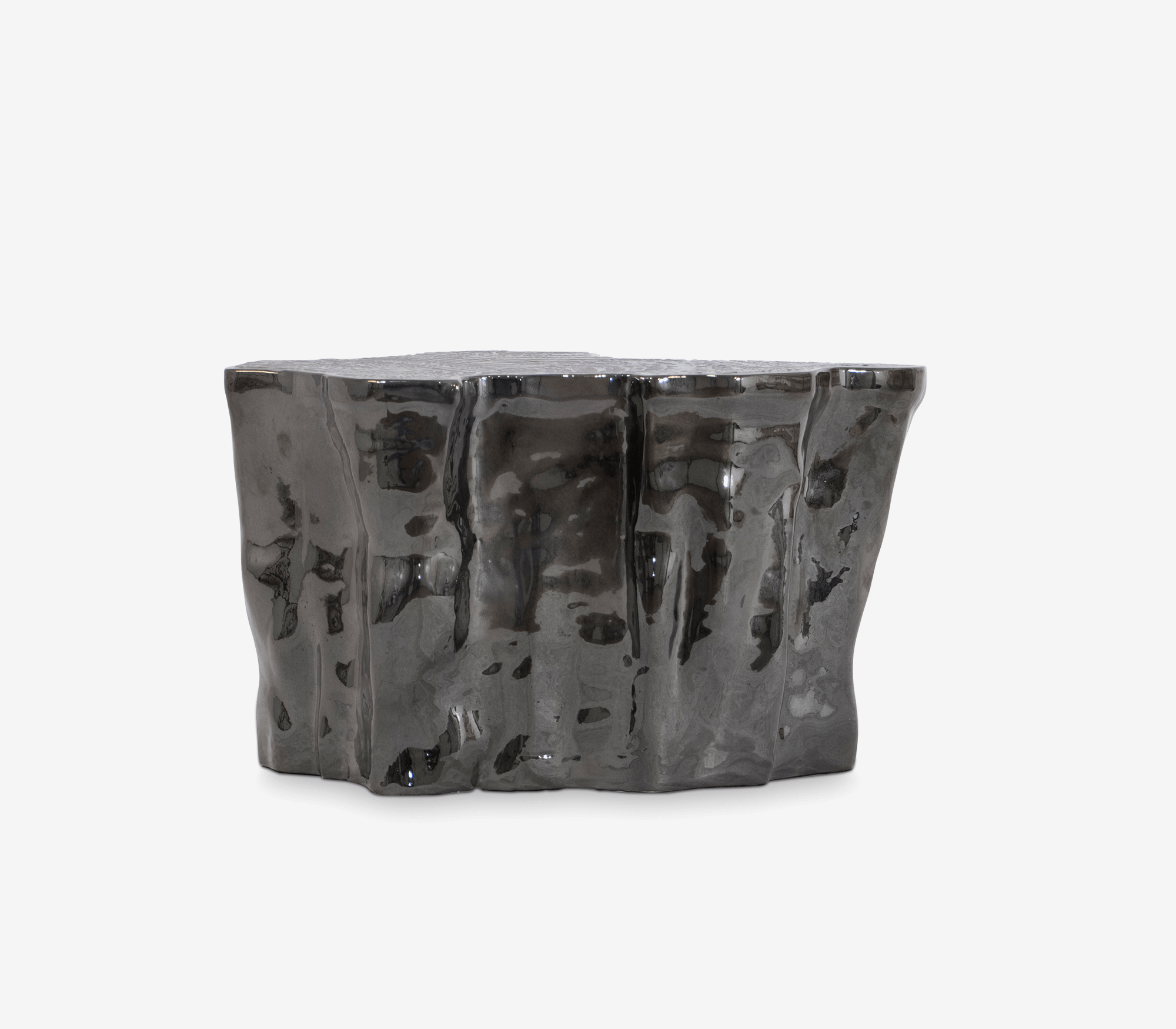 Eden Ceramic Black Side Table by Boca do Lobo