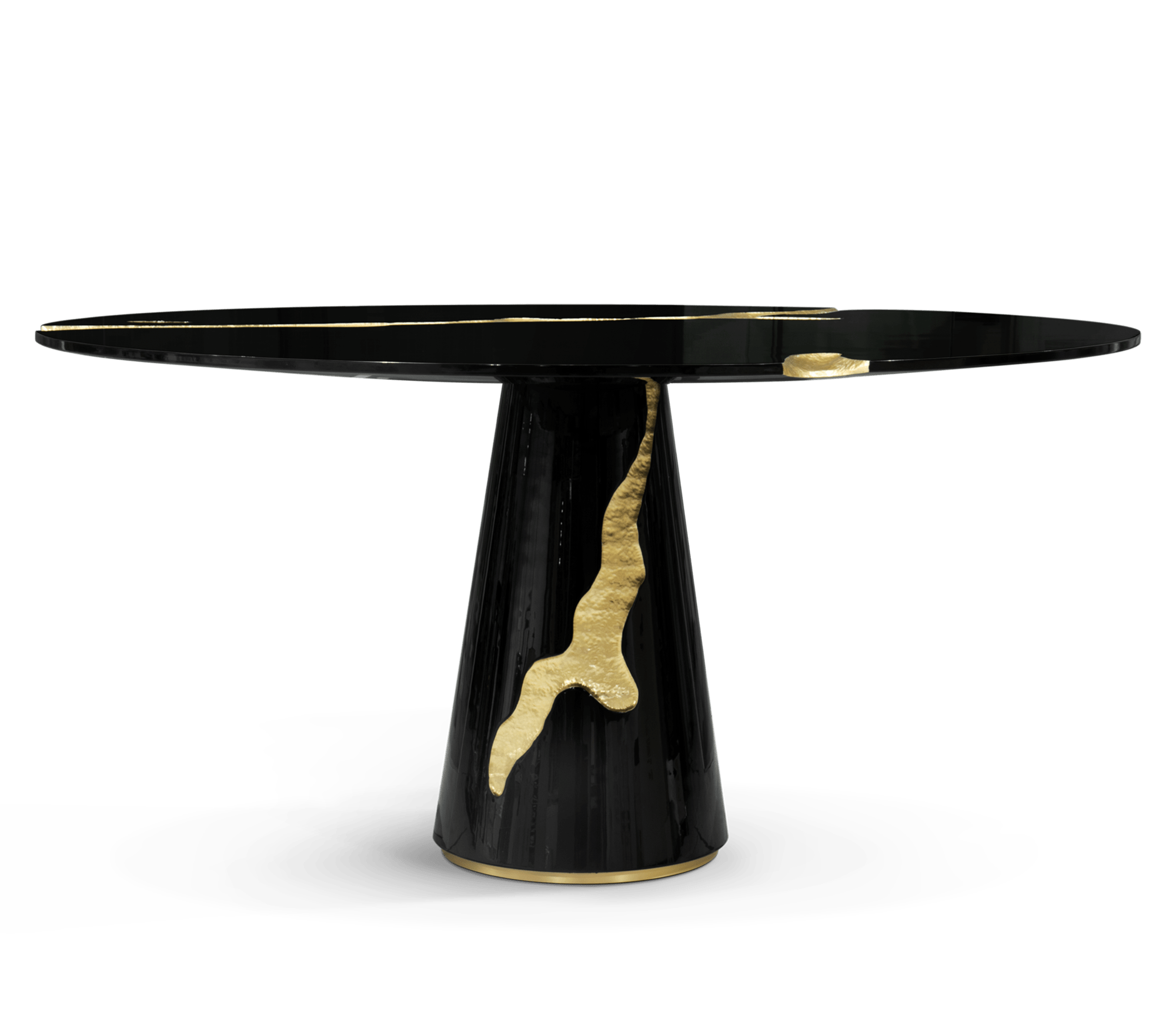 Empire Round Black Dining Table by Boca do Lobo