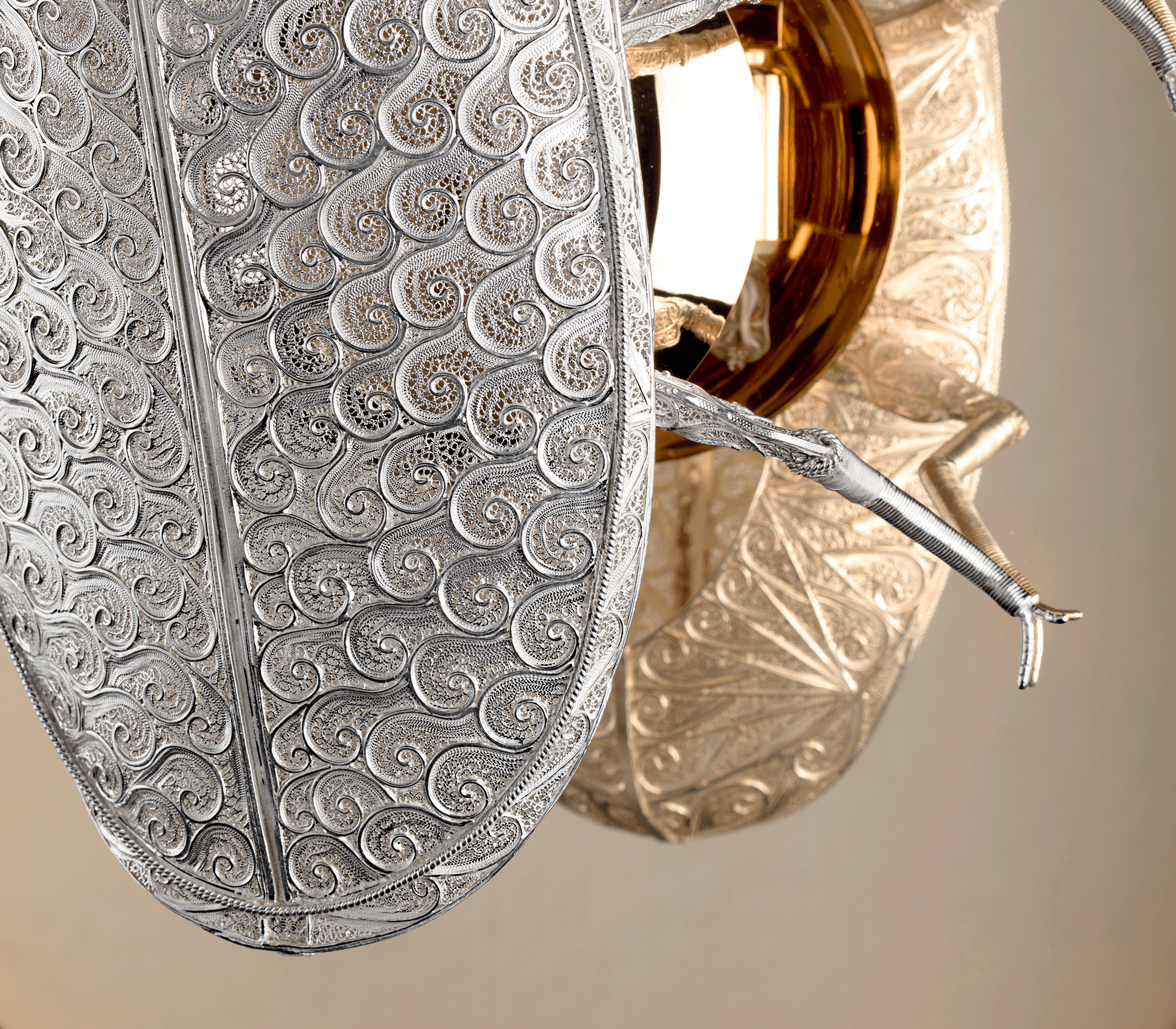 Filigree Lucanus Wall Lamp by Boca do Lobo