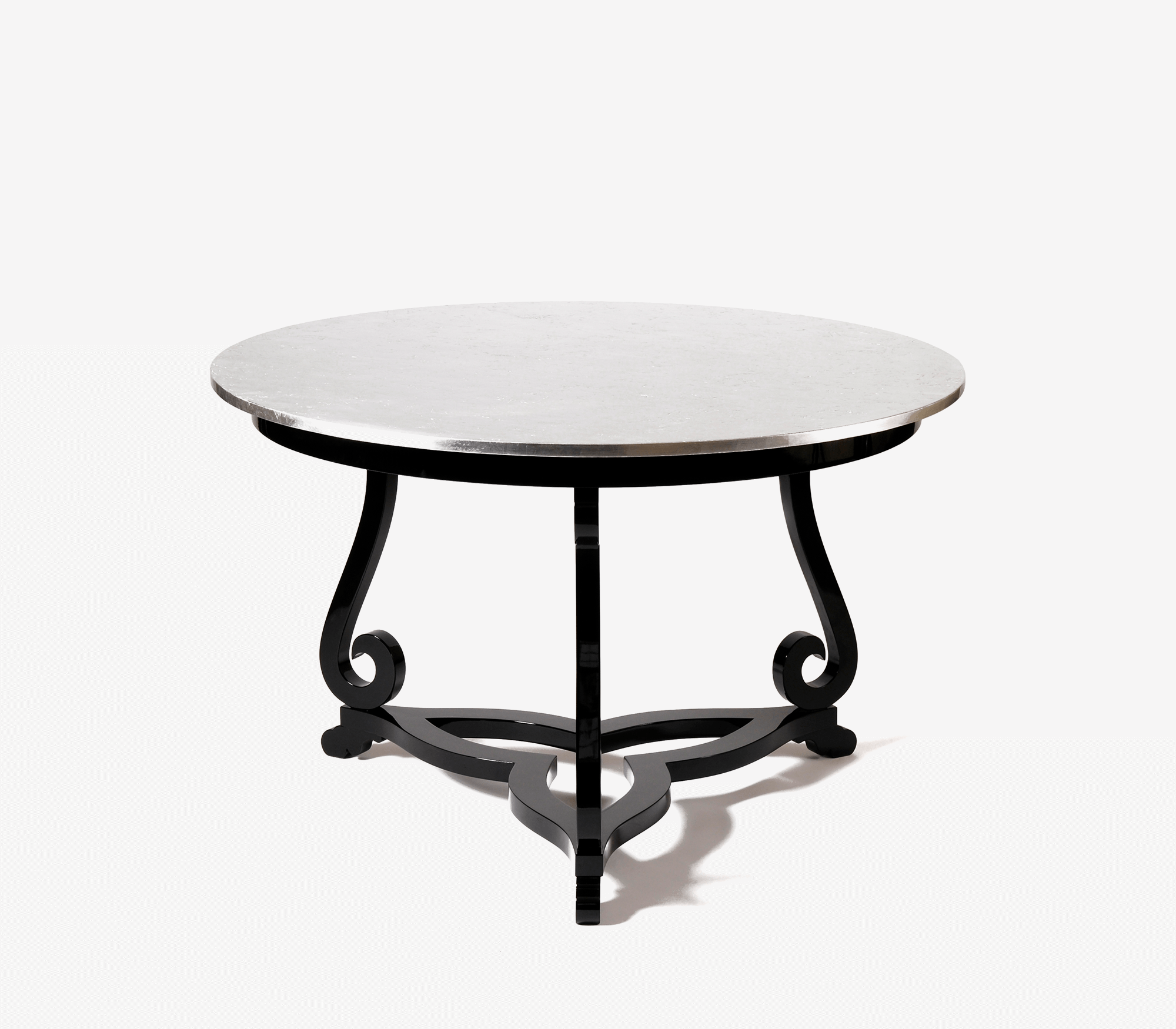 Flourish Silver Pedestal Table by Boca do Lobo