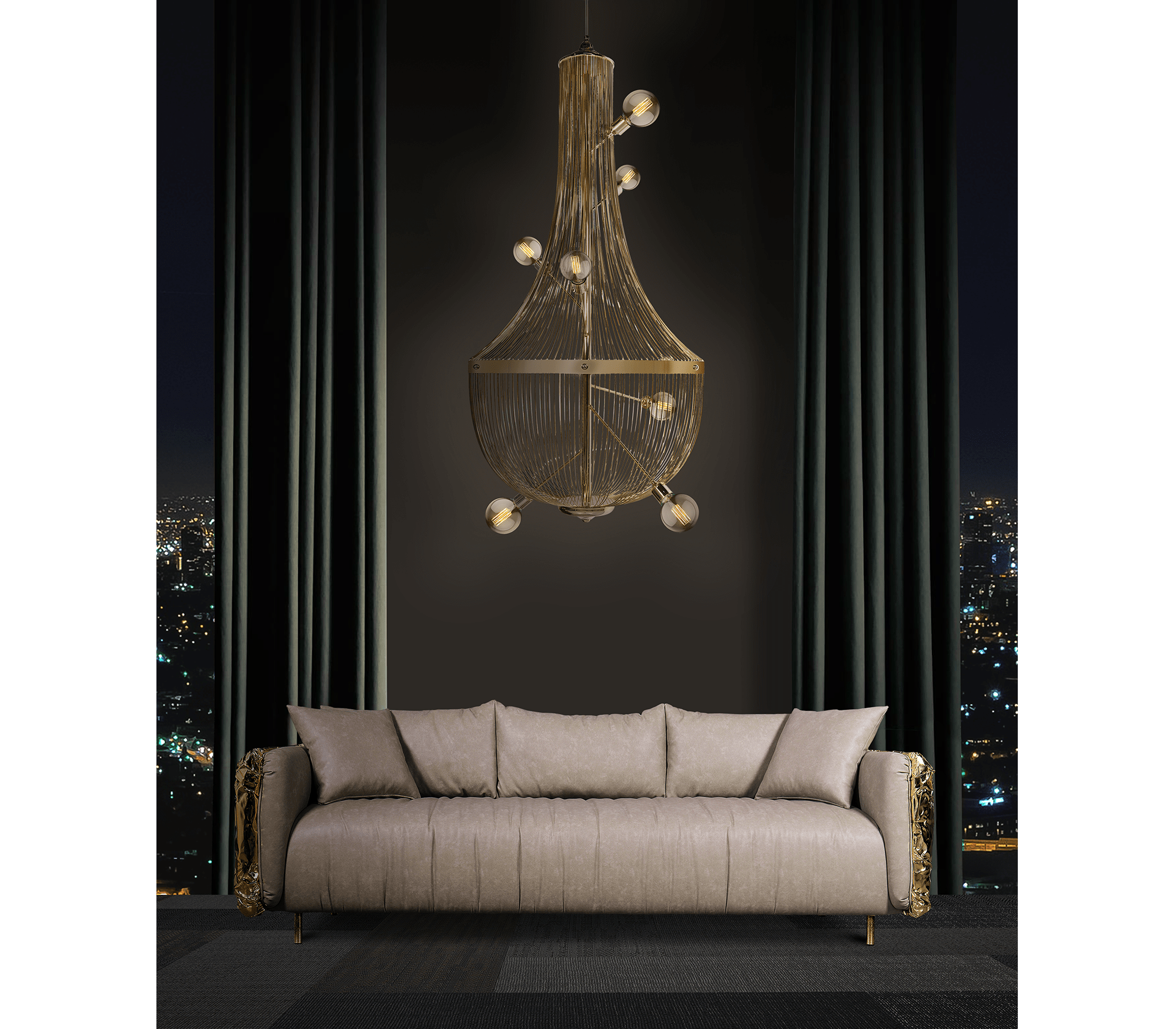L'Chandelier Suspension Lamp by Boca do Lobo