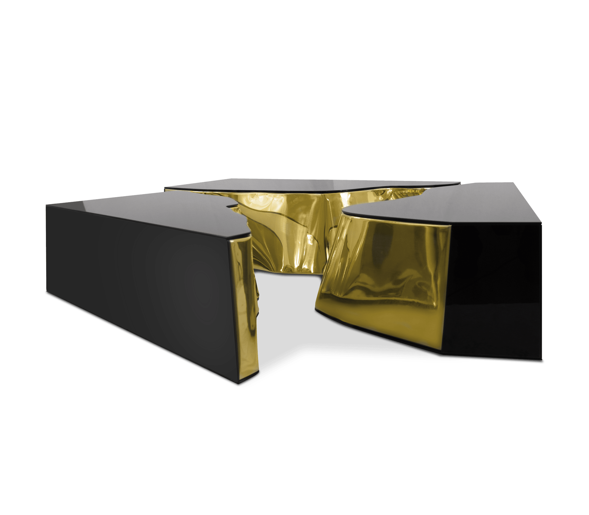 Lapiaz Black Gold Center Table by Boca do Lobo