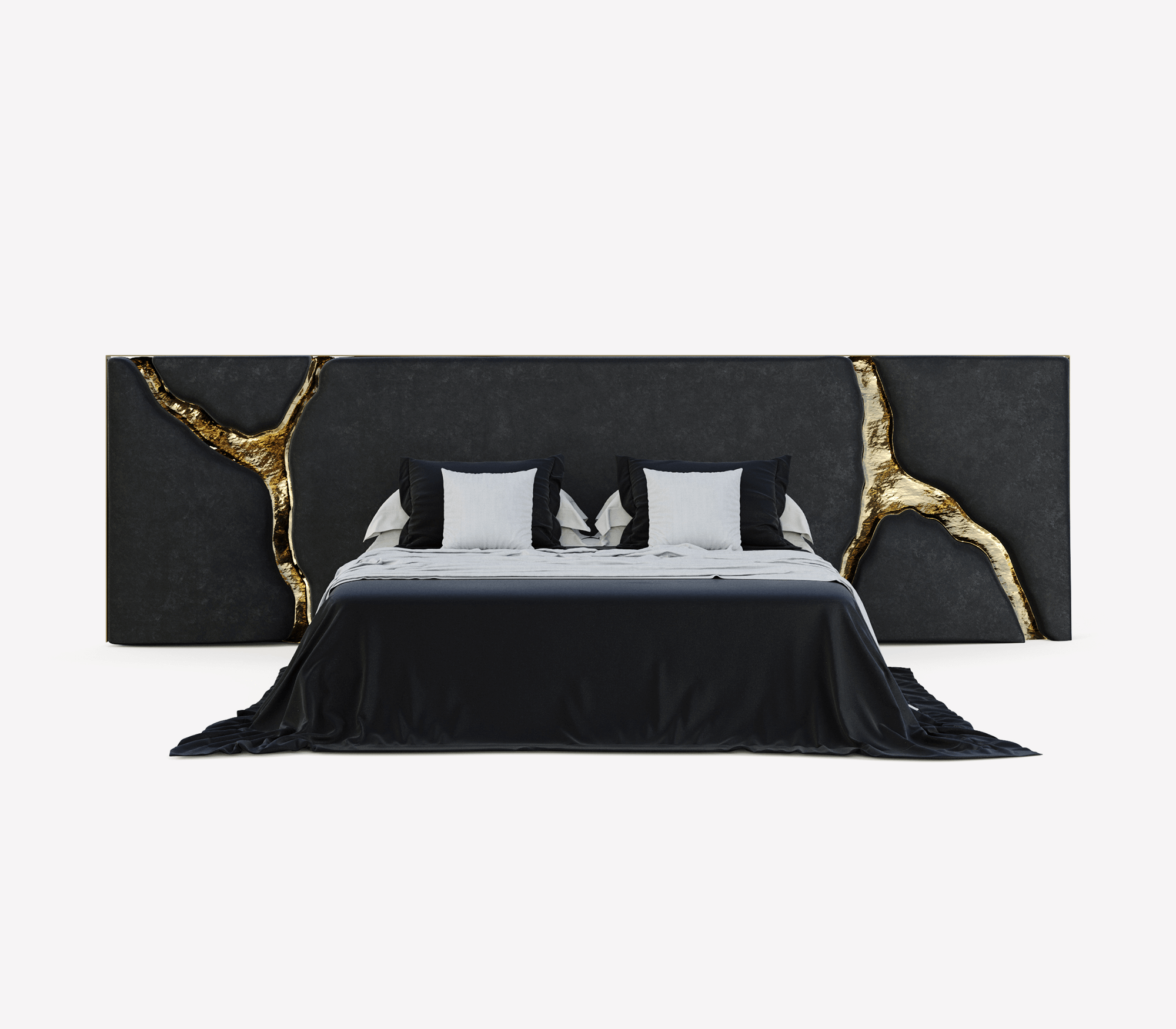 Lapiaz Black Headboard by Boca do Lobo