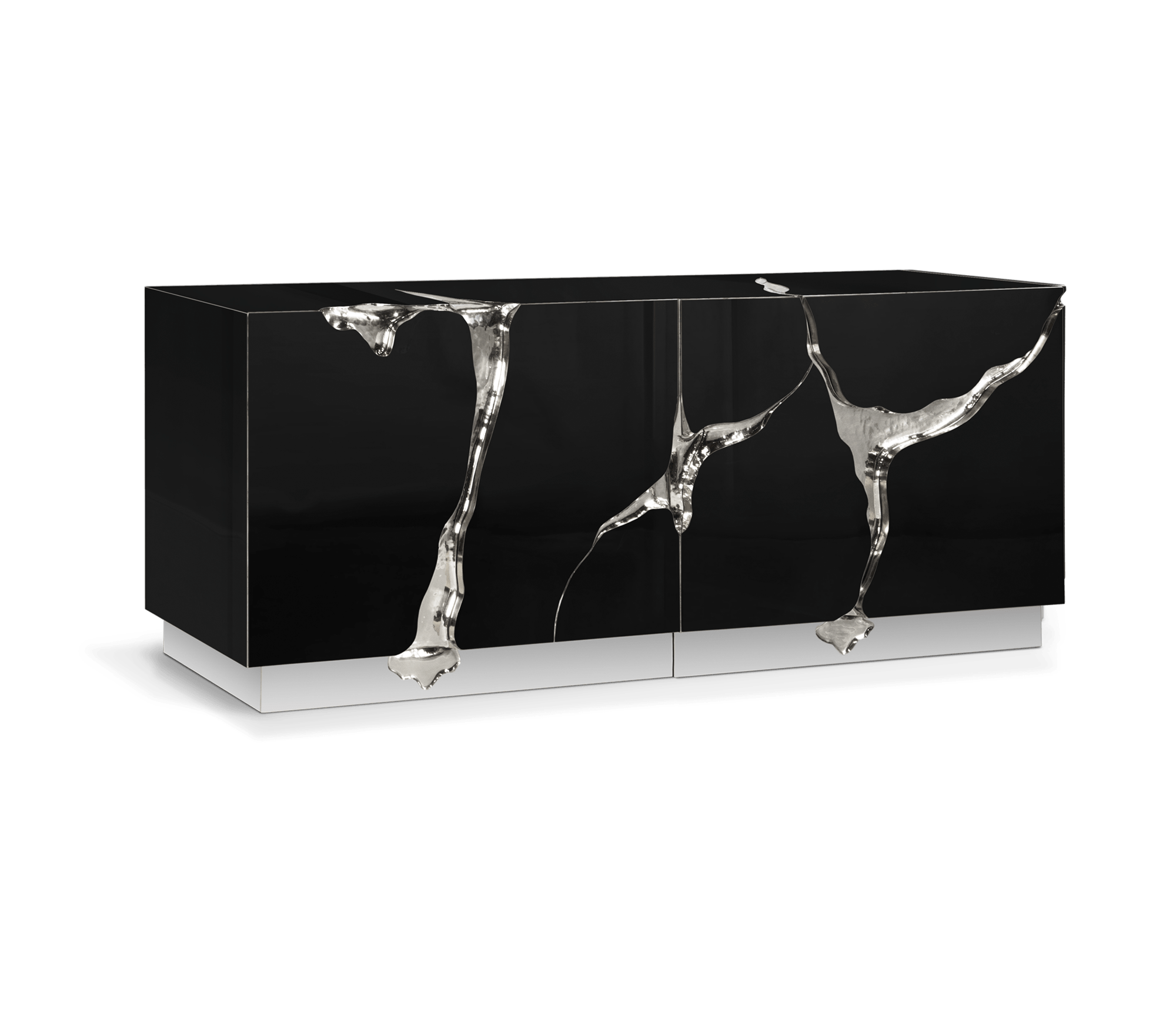 Lapiaz Black Silver Sideboard by Boca do Lobo