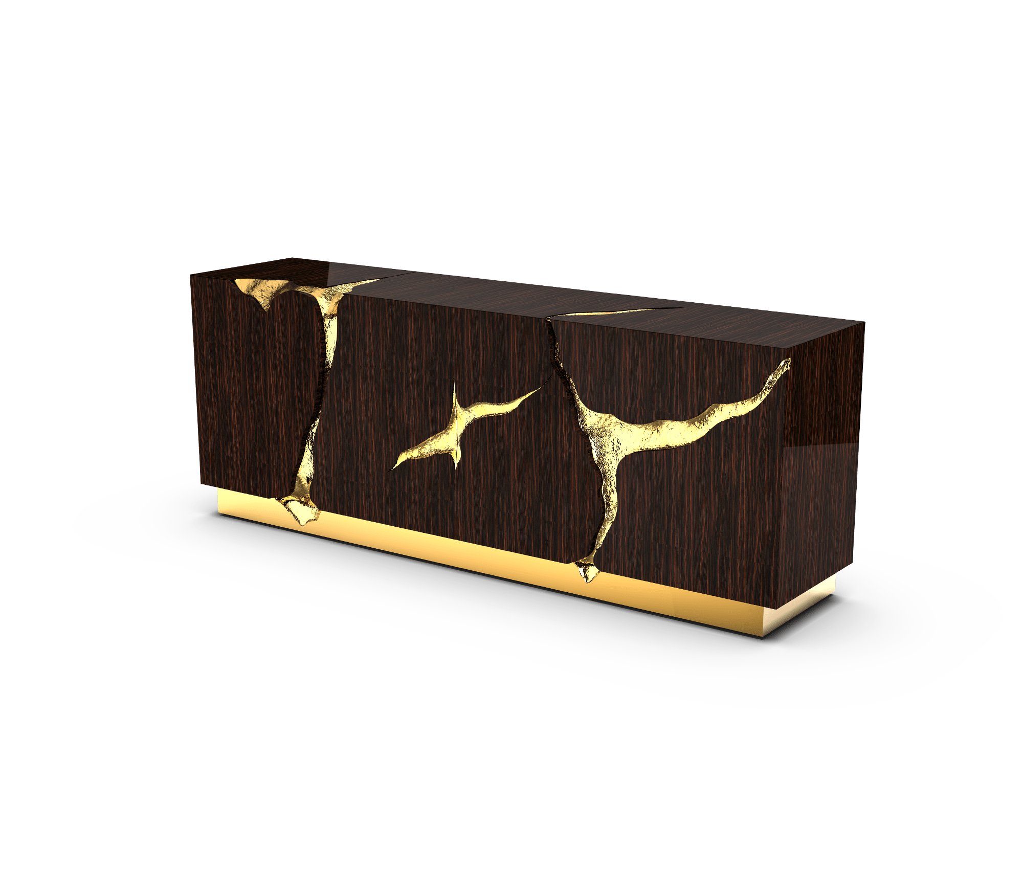 Lapiaz Ebony Sideboard by Boca do Lobo
