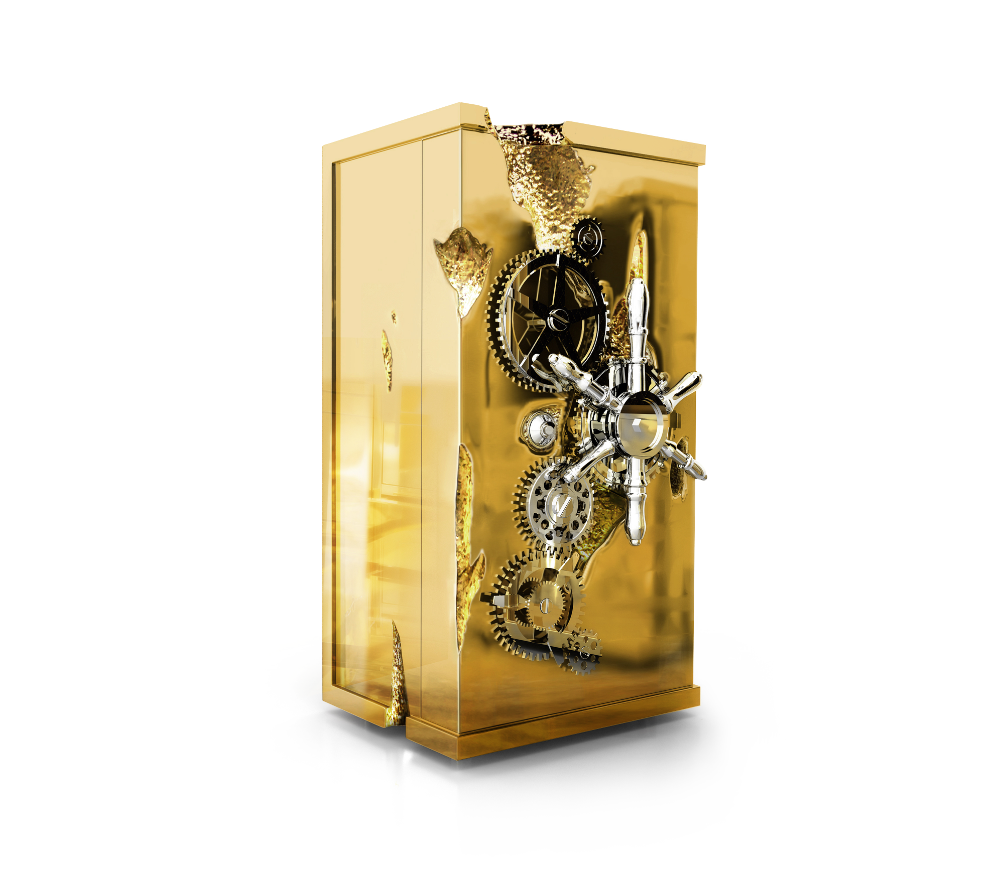 Millionaire Gold Luxury Safe by Boca do Lobo