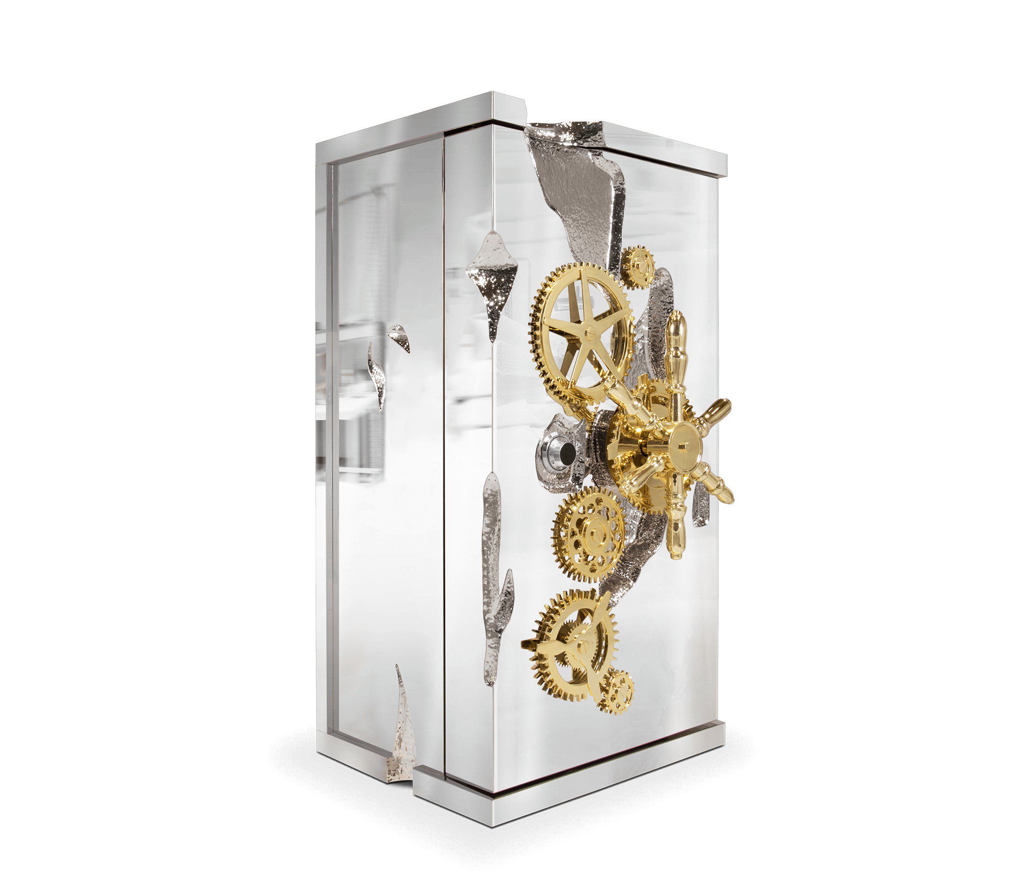 Millionaire Silver Luxury Safe by Boca do Lobo