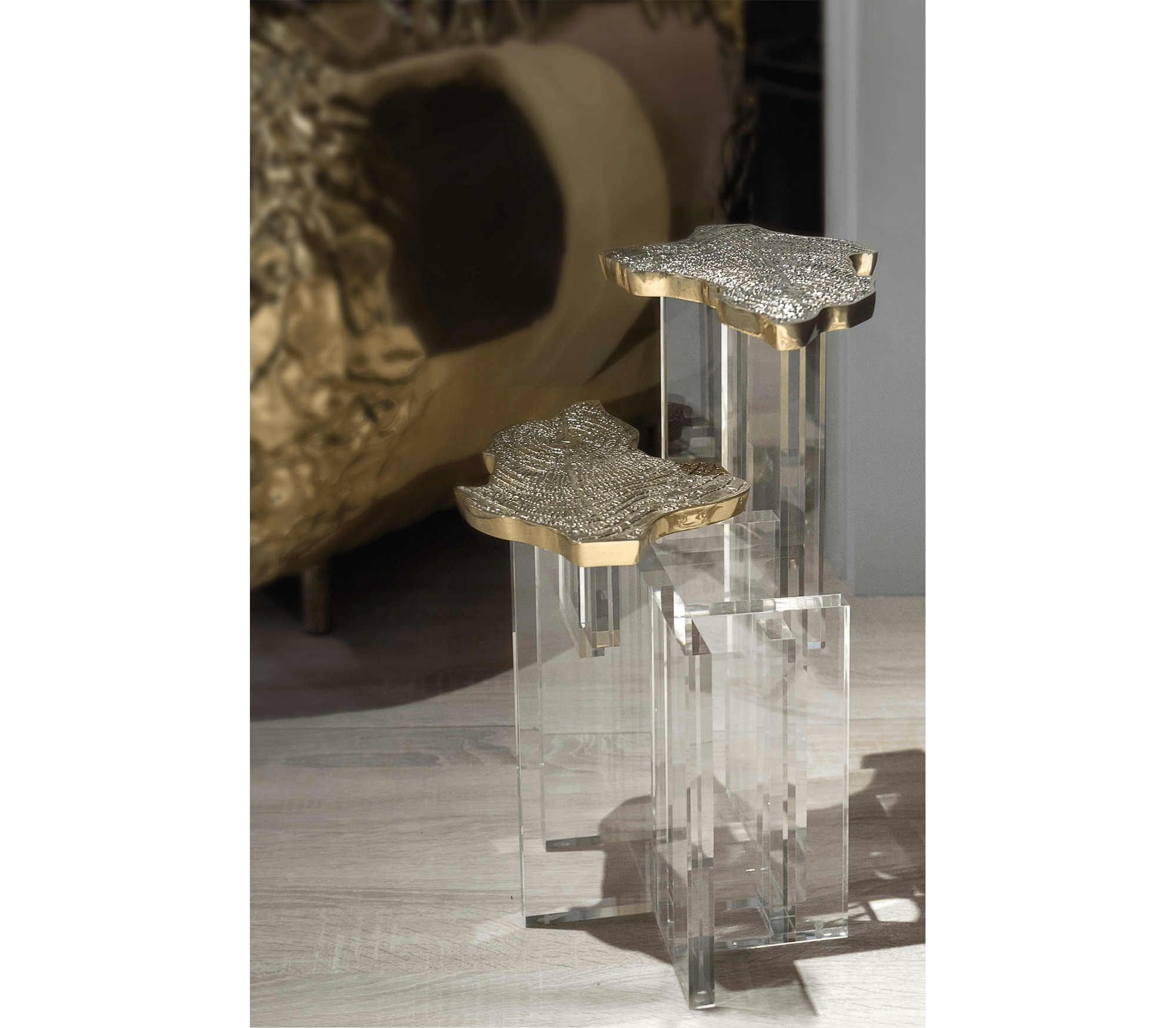 Monet Gold Side Table by Boca do Lobo