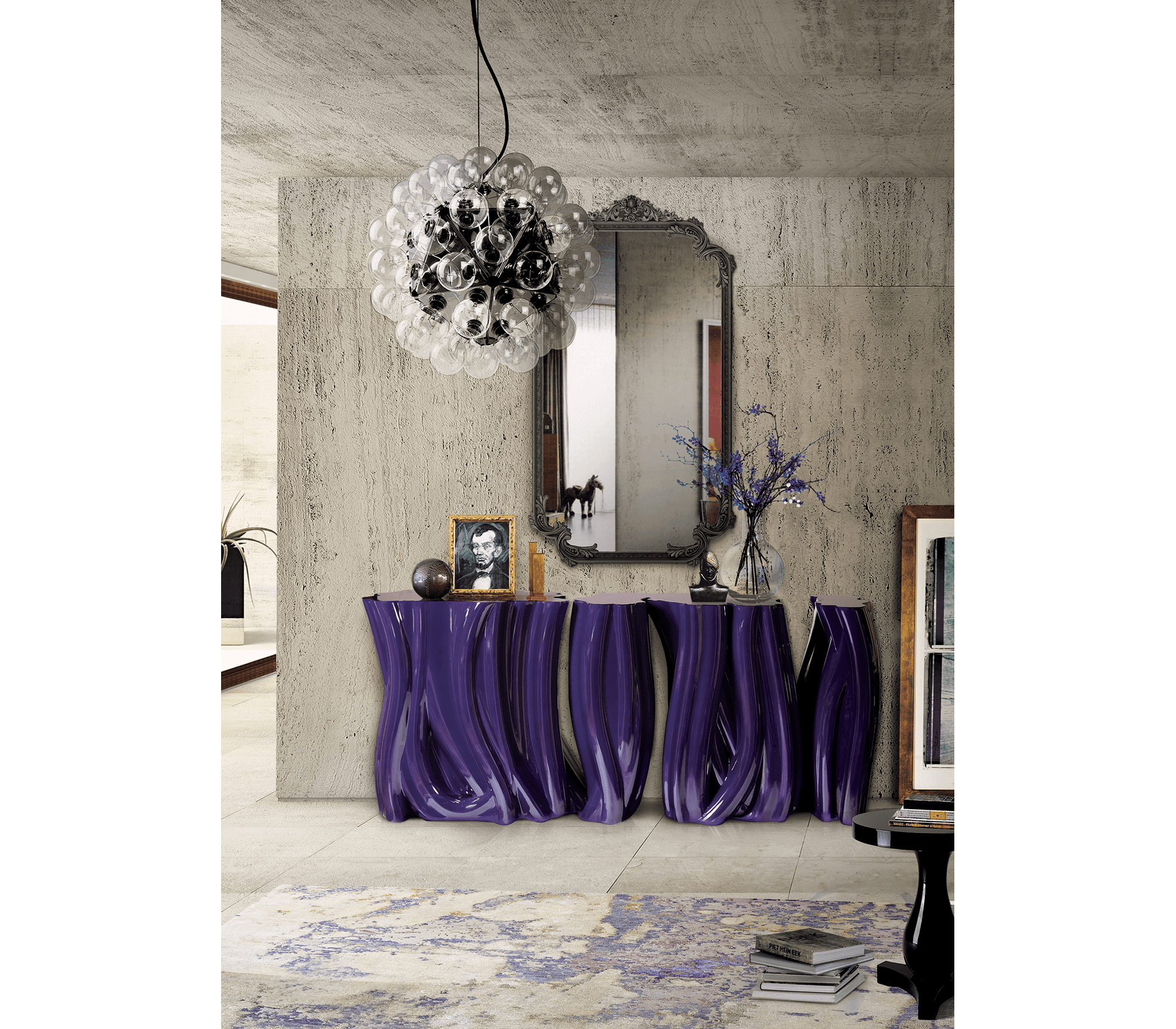 Monochrome Purple Sideboard by Boca do Lobo