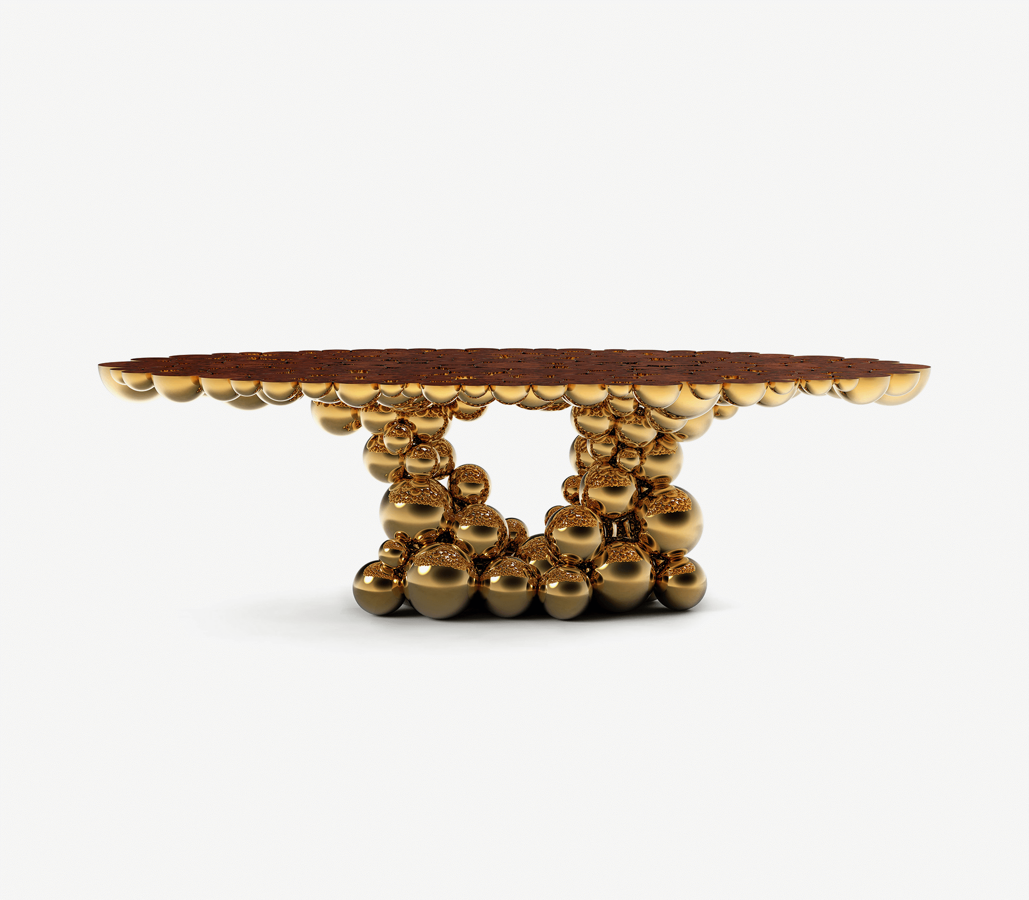 Newton Gold Myrtle Dining Table by Boca do Lobo