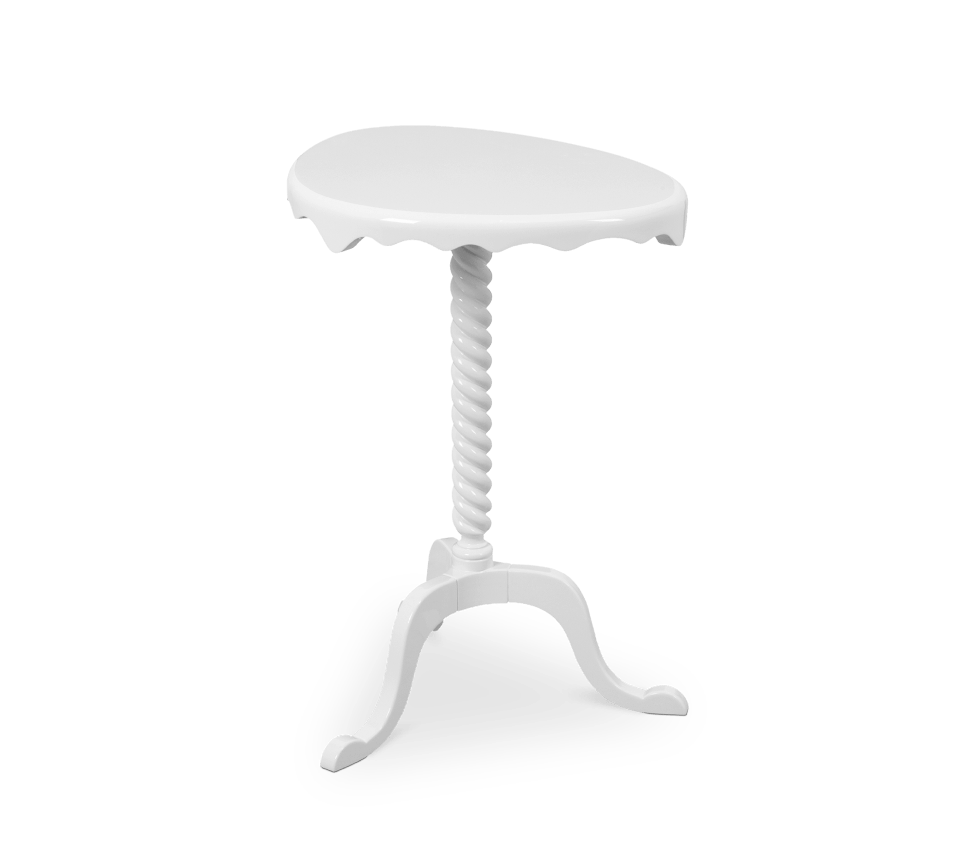 Ottoman White Side Table by Boca do Lobo