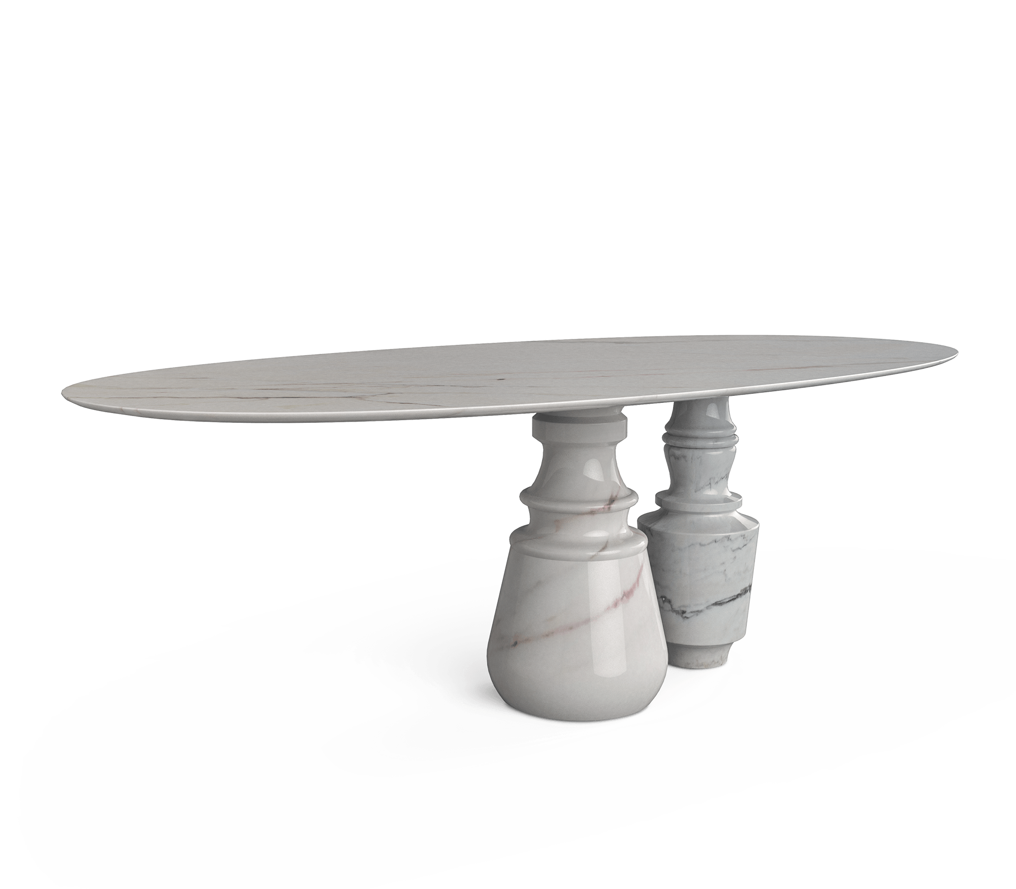 Pietra Oval Estremoz Dining Table by Boca do Lobo