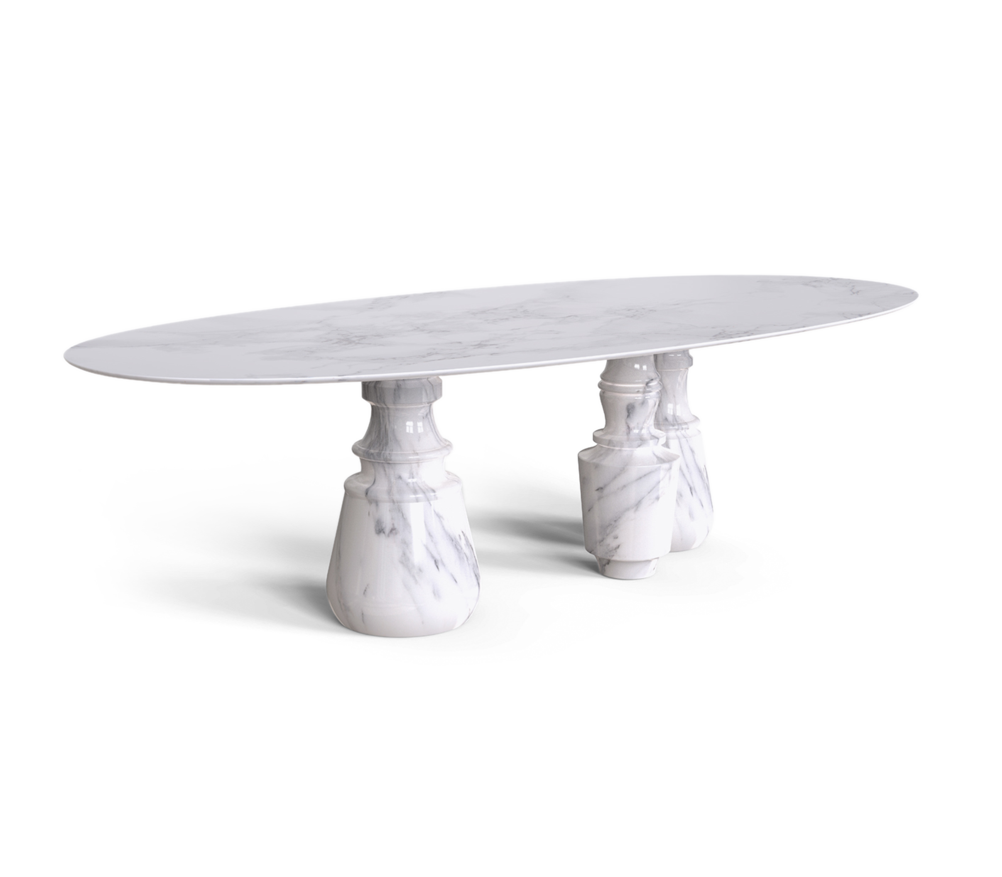 Pietra Oval XL Estremoz Dining Table by Boca do Lobo