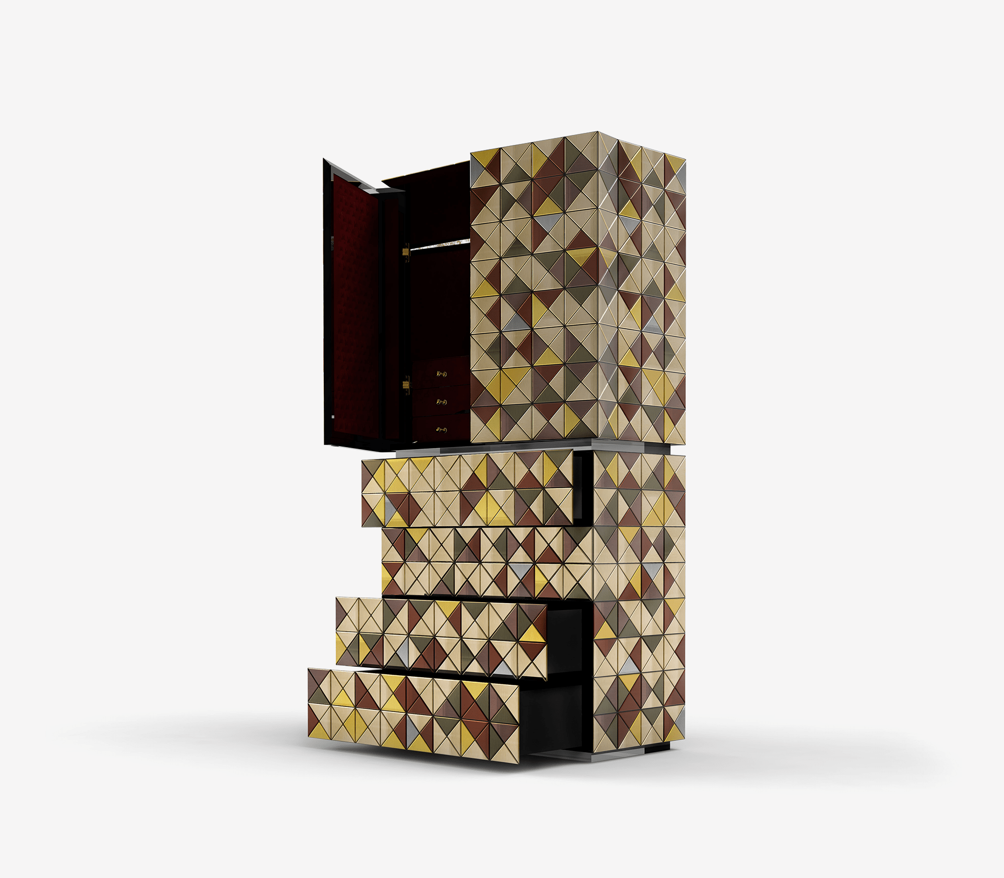 Pixel Anodized Cabinet by Boca do Lobo